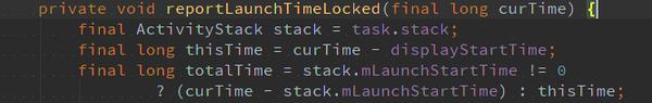 curTime/displayStartTime/mLaunchStartTime